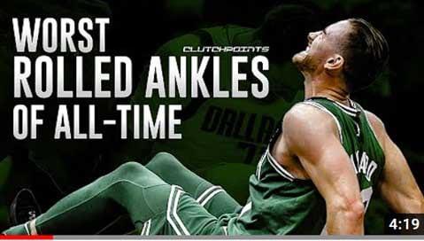 นักกีฬาข้อเท้าแพลง