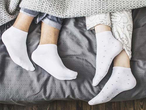 เท้าเบาหวานใส่ถุงเท้า